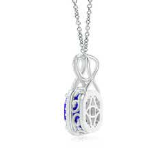 Toggle Rectangular Cushion Tanzanite Infinity Pendant