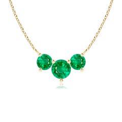 Classic Trio Emerald Necklace