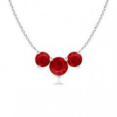 Classic Trio Ruby Necklace