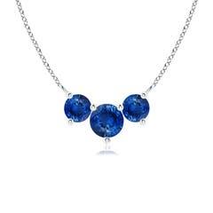Classic Trio Sapphire Necklace Past Present Future