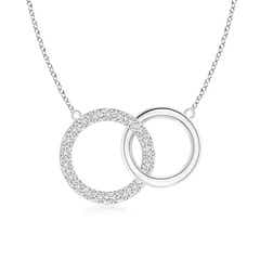 Interlocking Diamond Circle Necklace