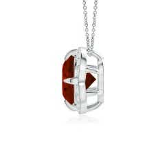 Toggle Claw-Set GIA Certified Ruby Clover Pendant with Diamond Halo