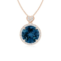 Angara Emerald-Cut London Blue Topaz Solitaire Pendant with Diamond jA0zpwTgYh