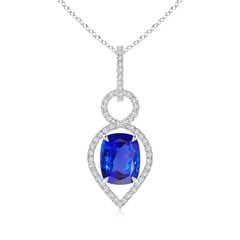Angara Rectangular Cushion Tanzanite Solitaire Pendant dFuxCK7L