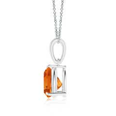 Toggle Claw-Set Trillion Citrine Solitaire Pendant