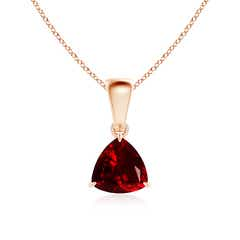 Claw-Set Trillion Garnet Solitaire Pendant
