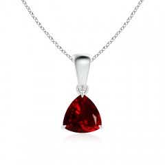 Claw Set Solitaire Garnet Trillion Pendant