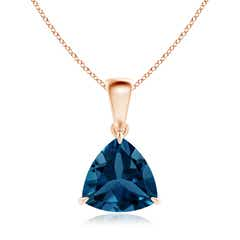 Claw-Set Trillion London Blue Topaz Solitaire Pendant