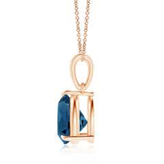Toggle Claw-Set Trillion London Blue Topaz Solitaire Pendant