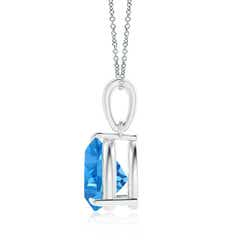 Toggle Claw-Set Trillion Swiss Blue Topaz Solitaire Pendant