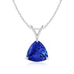 Claw-Set Trillion Tanzanite V-Bale Pendant