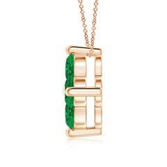 Toggle Classic Round Emerald Clover Pendant