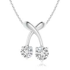 Two Stone Diamond Cherry Pendant