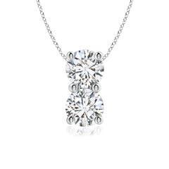 Classic Two Stone Diamond Pendant