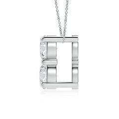 Toggle Classic Two Stone Diamond Pendant