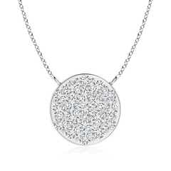 Angara Round Diamond Wheel Of Life Pendant 7fjvn3XL6u