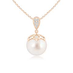Angara South Sea Cultured Pearl Pendant with Inverted Pear Bale qjY3mFpy