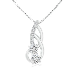 Double Diamond Loop Pendant