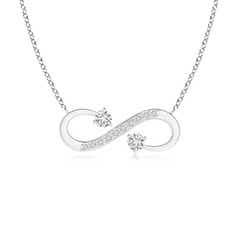 Sideways Infinity Two Stone Diamond Necklace