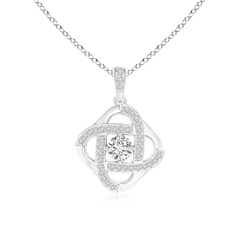 Diamond Celtic Knot Dangle Pendant
