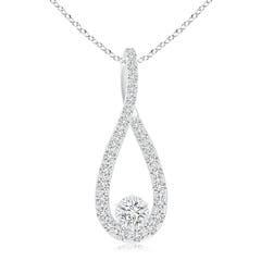 Solitaire Round Diamond Infinity Loop Pendant