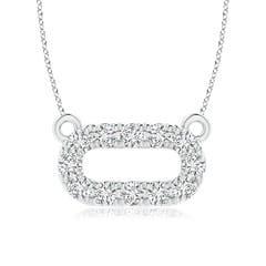 Angara Pave-Set Diamond Sideways Wishbone Necklace GOy0Aj322