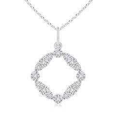 Marquise and Dot Diamond Circle Pendant