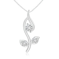 Angara Classic Diamond Leaf and Vine Pendant uf6cqRLg3b