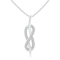 Round Vertical Diamond Infinity Knot Pendant