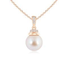 Angara Akoya Cultured Pearl Pendant with Diamond Studded Crown 5lfPIcuZs0