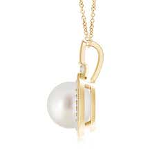Toggle South Sea Cultured Pearl Rope-Edged Pendant with Diamonds