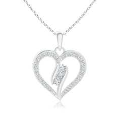 Diamond Swirl Heart Pendant