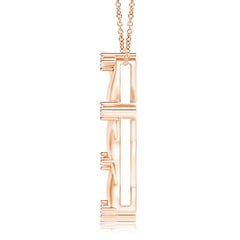 Toggle Diamond Braided Cross Pendant