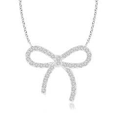 Diamond Bow Knot Necklace
