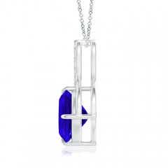 Toggle Claw-Set Tanzanite Infinity Pendant with Diamonds