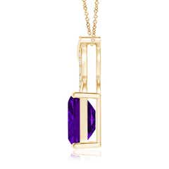 Toggle Amethyst Pendant with Diamond Entwined Bale