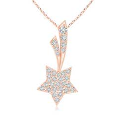 Cluster Diamond Shooting Star Pendant