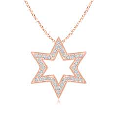 Star Of David Diamond Pendant with Milgrain