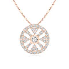 Round Diamond Wheel Of Life Pendant