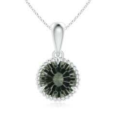 GIA Certified Green Amethyst Twisted Rope Dangle Pendant