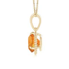 Toggle Rope-Framed Claw-Set Citrine Solitaire Pendant