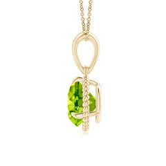 Toggle Rope-Framed Claw-Set Peridot Solitaire Pendant