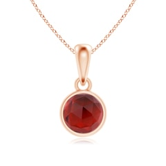 Bezel-Set Garnet Solitaire Dangle Pendant
