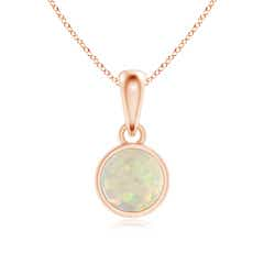 Bezel-Set Opal Solitaire Dangle Pendant