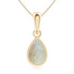 Pear-Shaped Opal Solitaire Dangle Pendant