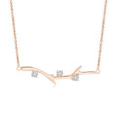 Prong-Set Diamond Tree Branch Necklace