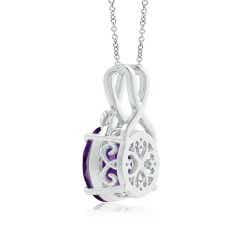 Angara Nature Inspired Amethyst Solitaire Pendant with Leaf Motifs nDZcvZDBQ