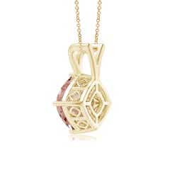 Toggle Sideways Cushion Morganite Solitaire V-Bale Pendant