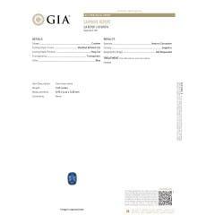 Toggle GIA Certified Cushion Blue Sapphire V-Bale Pendant