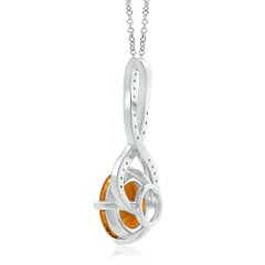 Toggle GIA Certified Round Citrine Infinity Twist Pendant